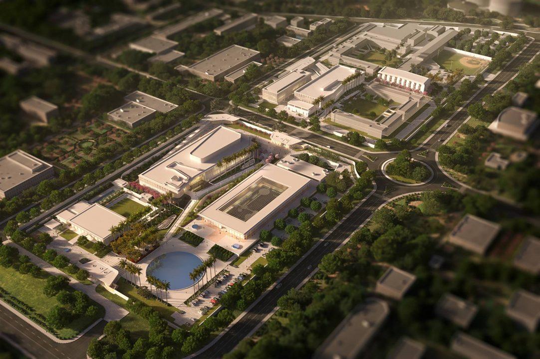 Aerial - Weiss Manfredi - New Delhi Embassy Compound