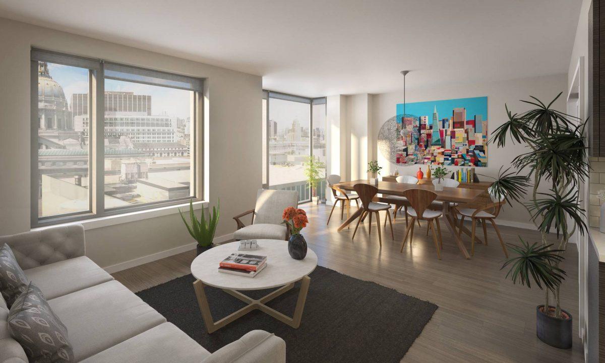 Living Room - Emerald Fund - 150 Van Ness